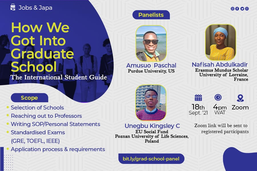 How we got into Graduate school: An international student guide